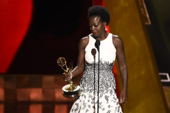 VIOLA DAVIS  : the first African-American to win an Emmy for best actress in a drama.