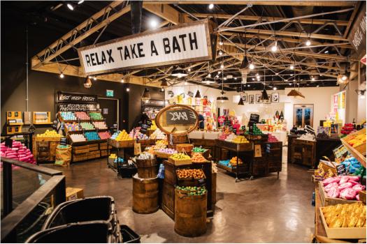 Lush ouvre sa plus grande boutique française aux Quatre Temps !
